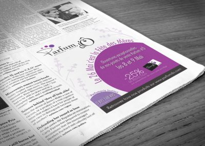 Graphic design – Affiche – Parfum d'Ô