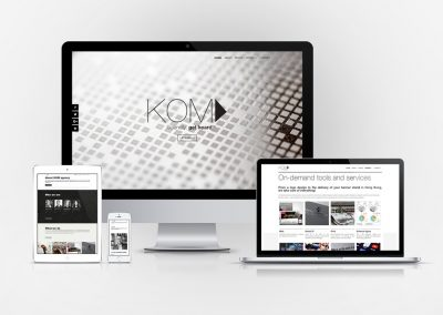 Webdesign for kom-fr.com