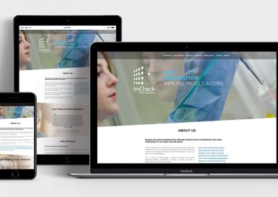 Responsive webdesign for imchecktherapeutics.com